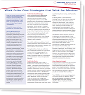 Work Order costing strategies that make sense - White Paper